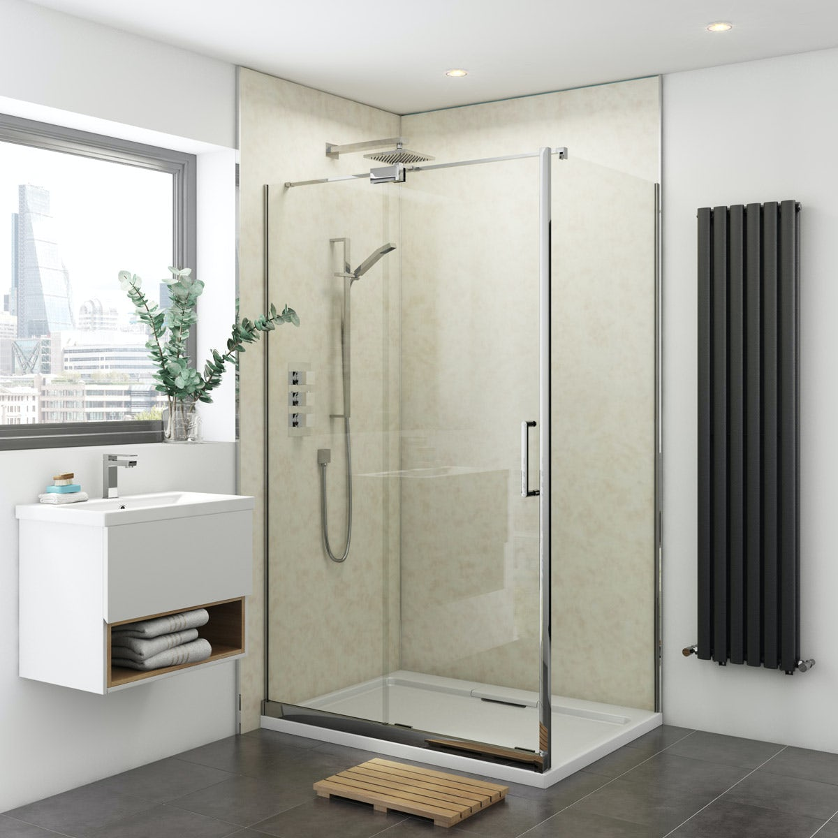 Multipanel Classic Natural India unlipped shower wall panel 2400 x 1200