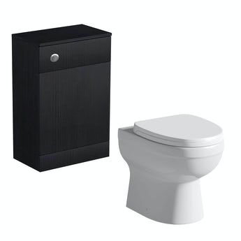 Orchard Arden essen black back to wall toilet unit with Eden toilet and seat