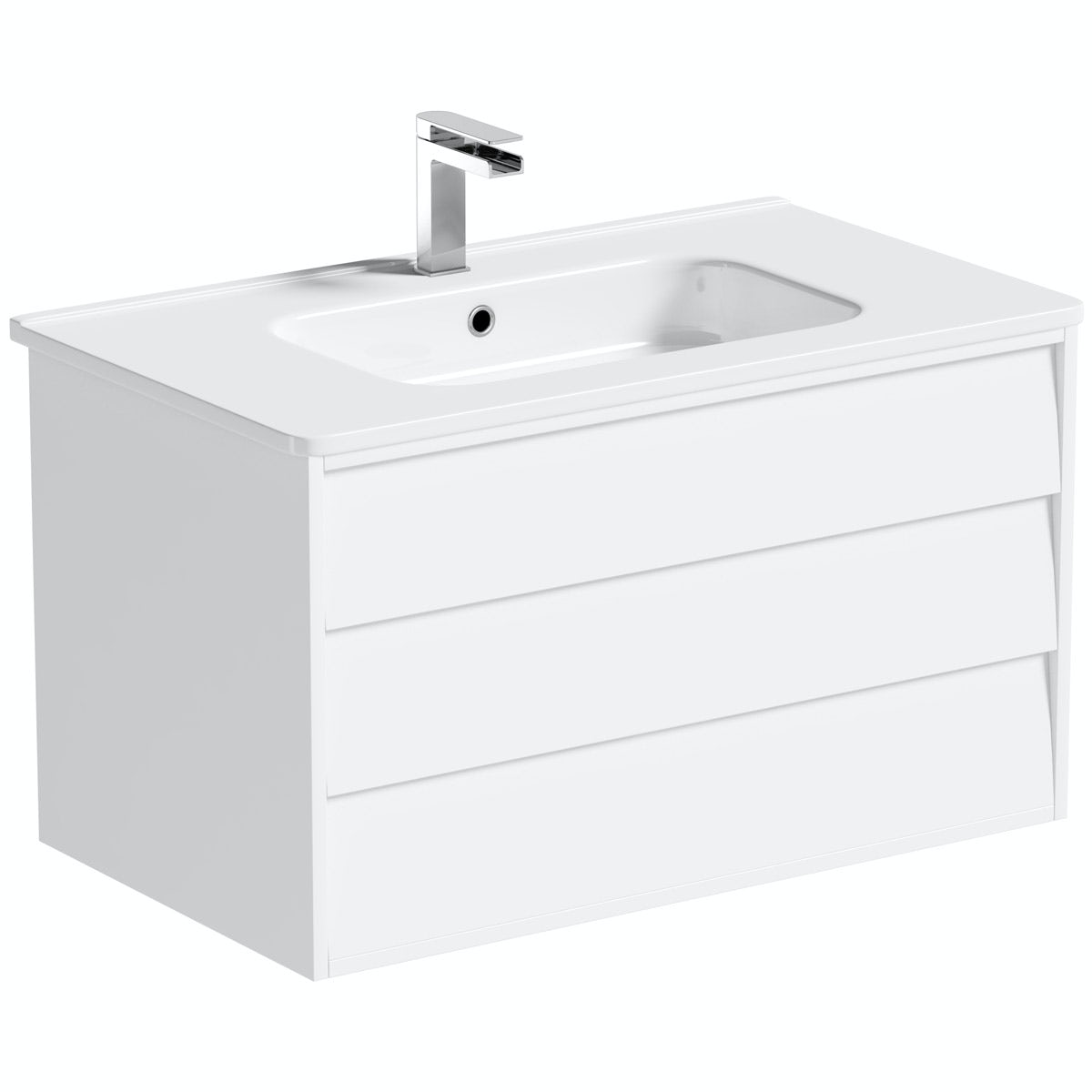 Mode Cooper white wall hung vanity unit and basin 800mm