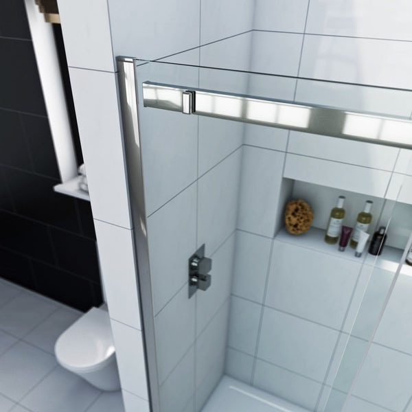 Infiniti 8mm Sliding Shower Enclosure 1200 x 800