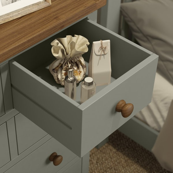 Rome Oak & Grey 4 over 3 Drawer Chest