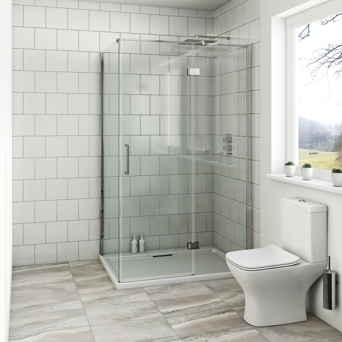 Mode Austin premium 8mm hinged easy clean shower enclosure 900 x 760