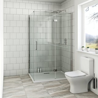 Mode Beck premium 8mm hinged easy clean rectangular shower enclosure