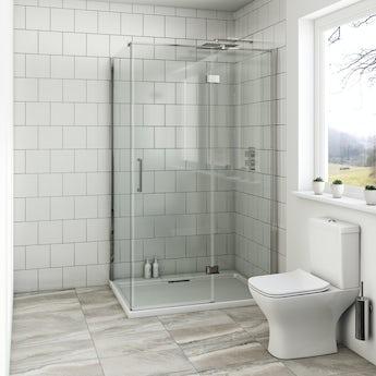 Mode Beck premium 8mm hinged easy clean rectangular shower enclosure