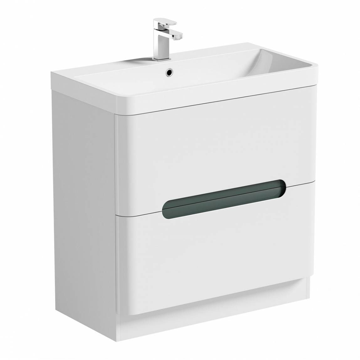 ModeEllis select slatevanity drawer unit and basin 800mm