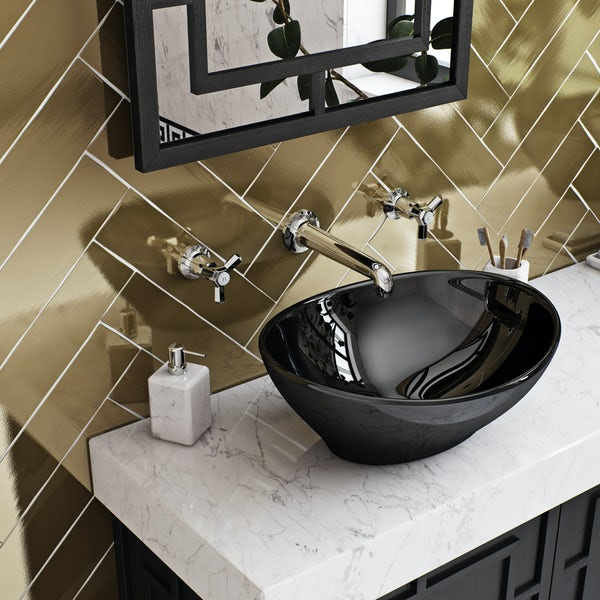 The Bath Co. Beaumont wall mounted basin mixer tap