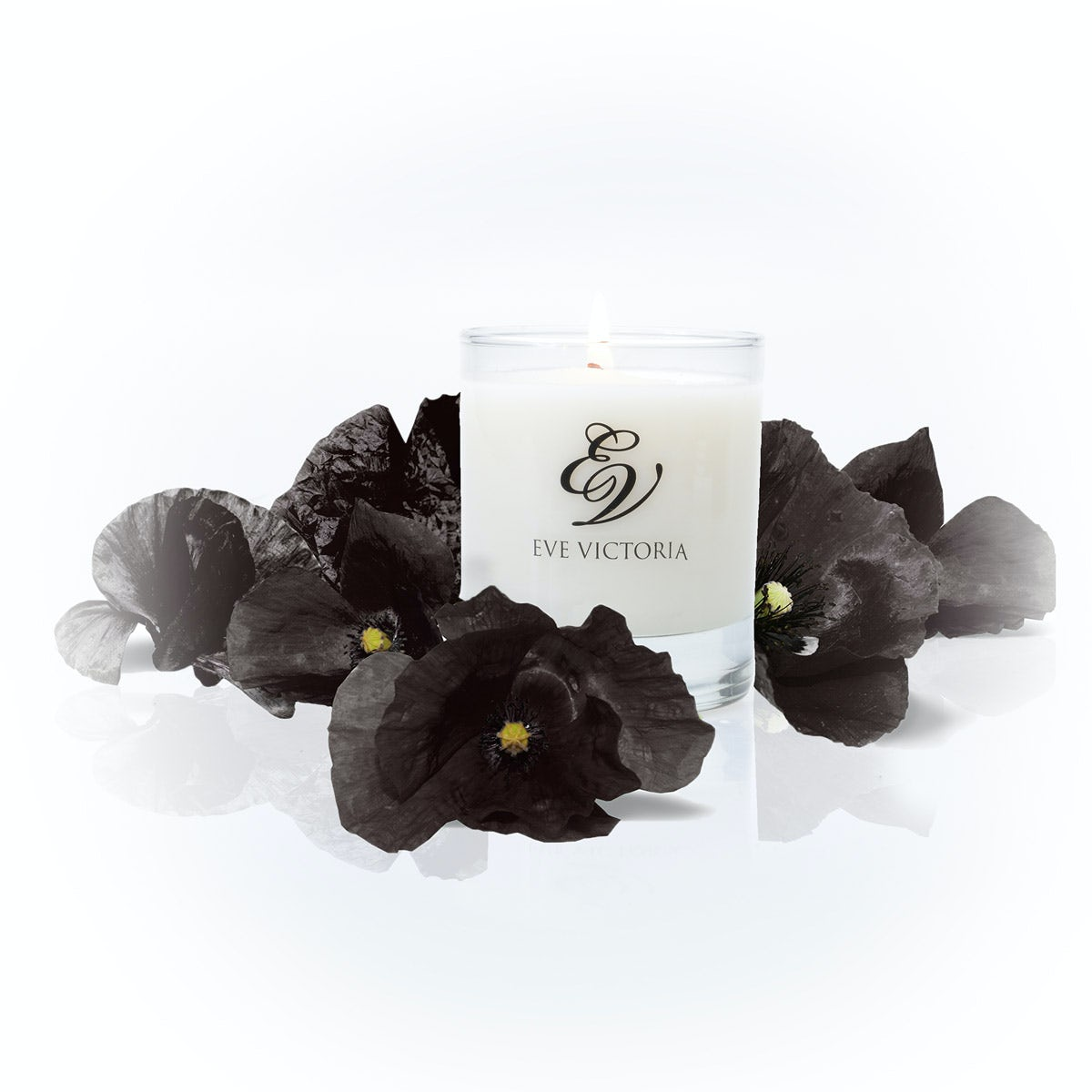 Eve Victoria Black poppy small candle 20cl