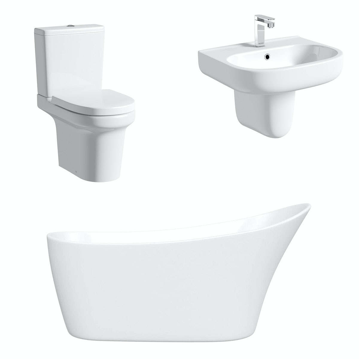 Mode Burton freestanding bath suite