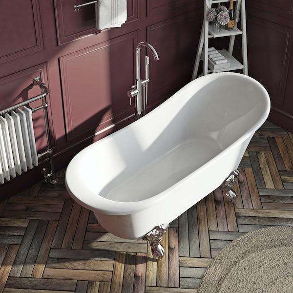 The Bath Co. Camberley freestanding slipper bath with ball feet 1700 X 770 offer pack