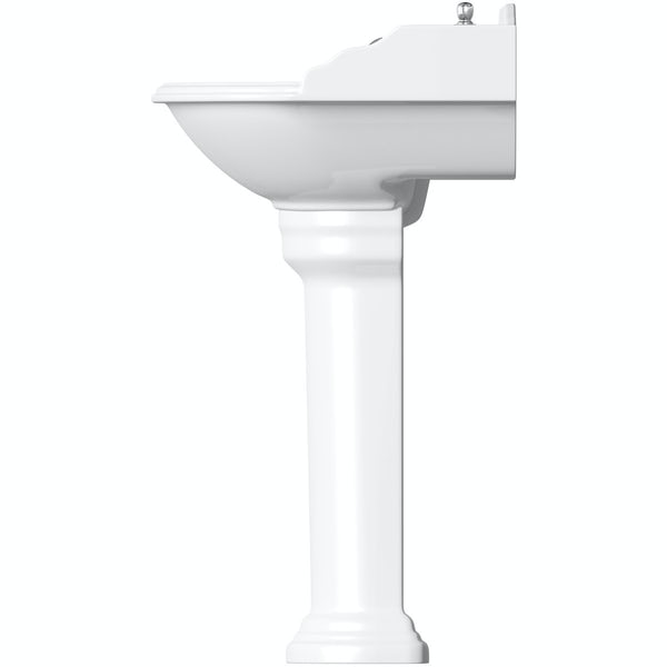Belle de Louvain Charlet high level toilet and full pedestal suite with chrome fittings