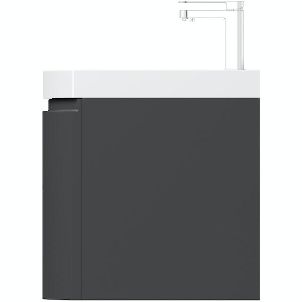 Mode Harrison slate wall hung vanity unit and basin 600mm