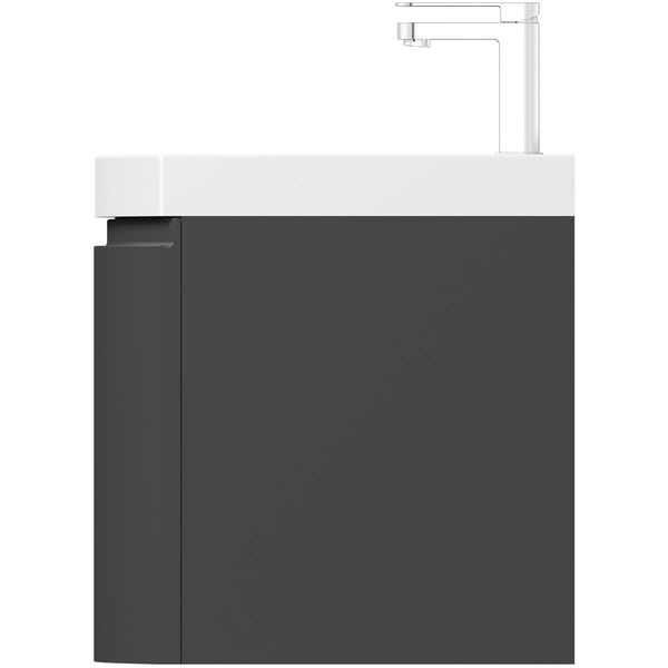 Mode Harrison slate wall hung vanity unit and basin 600mm