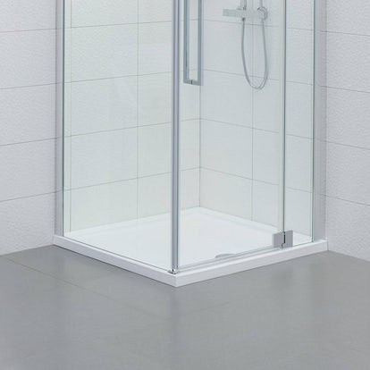 Square stone shower tray 900 x 900 - Shallow shower tray ...