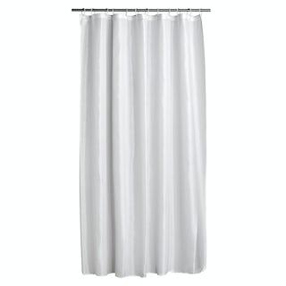 Diamond white polyester shower curtain