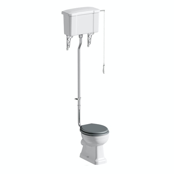 The Bath Co. Camberley high level toilet inc grey soft close seat