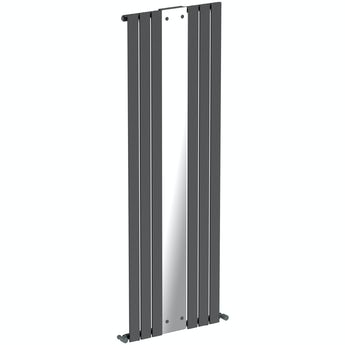 Mode Ellis anthracite vertical radiator with mirror 1840 x 620