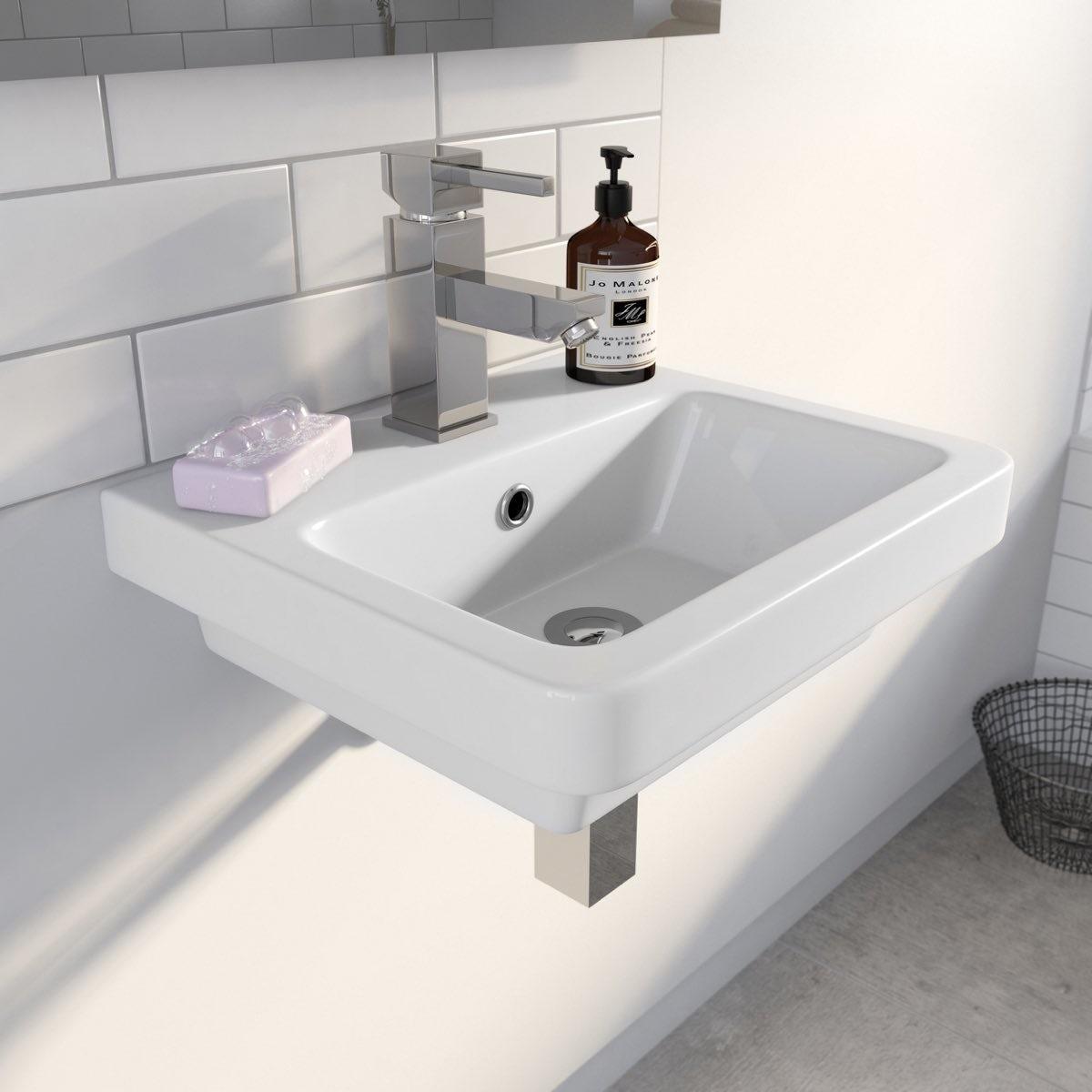 Bathroom Sinks Victoria Bc mode verso wall hung basin 400mm | victoriaplum