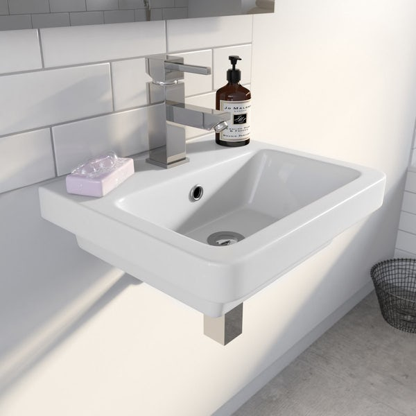 Cooper 1TH 400mm Wall Hung Basin