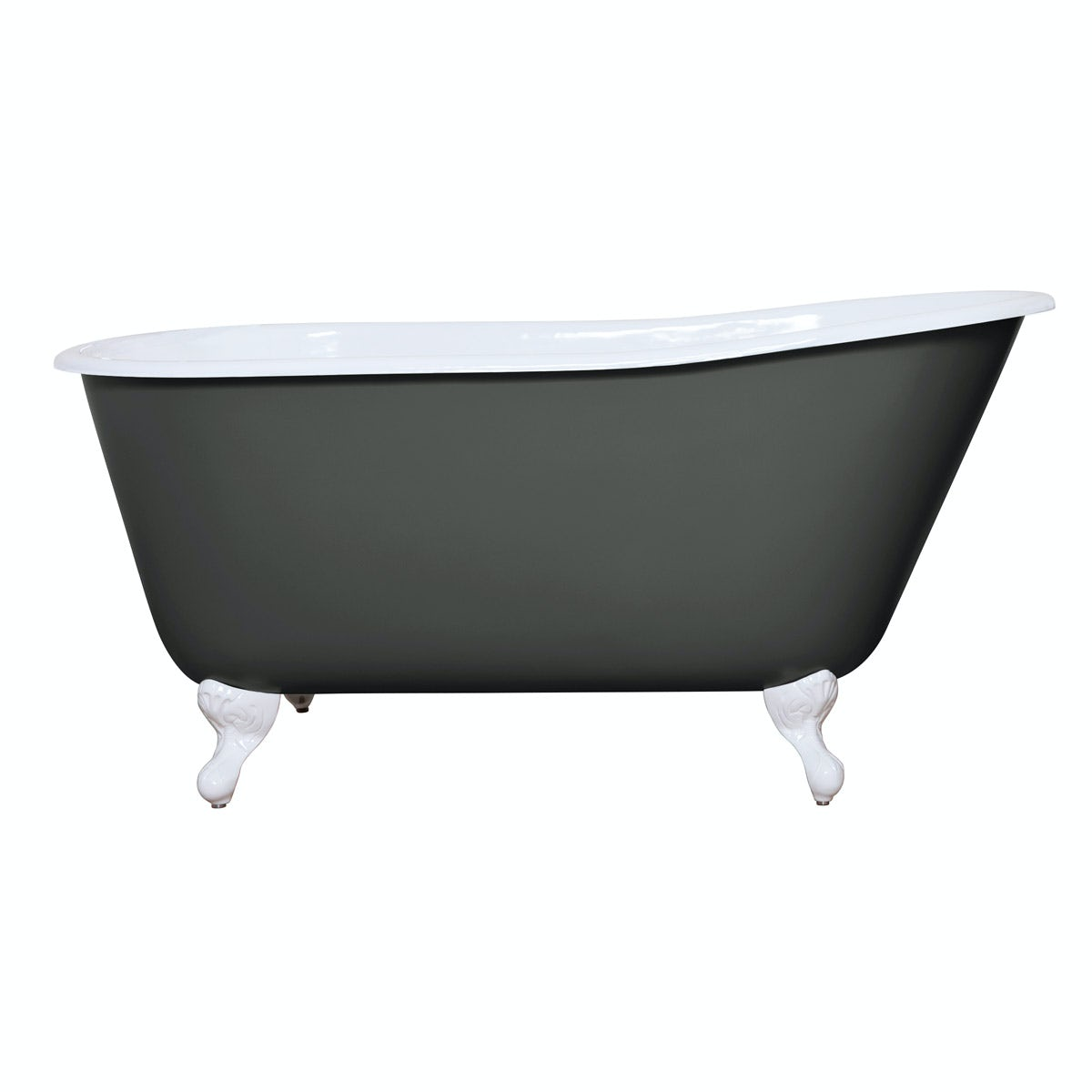The Bath Co. Warwick smoke grey cast iron bath
