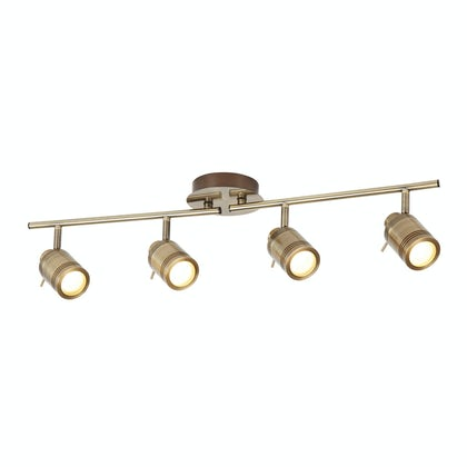 Searchlight Samson antique brass 4 light bathroom ceiling light