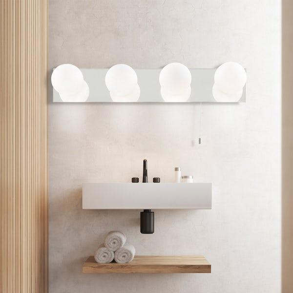Searchlight Global 4 light bathroom wall light
