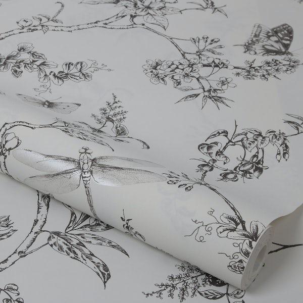 Graham & Brown Nature trail white mica wallpaper