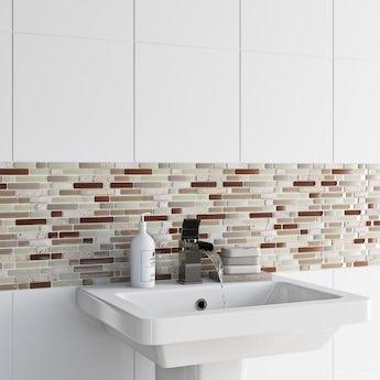 Mosaic nougat beige gloss tile 300mm x 300mm - 1 sheet