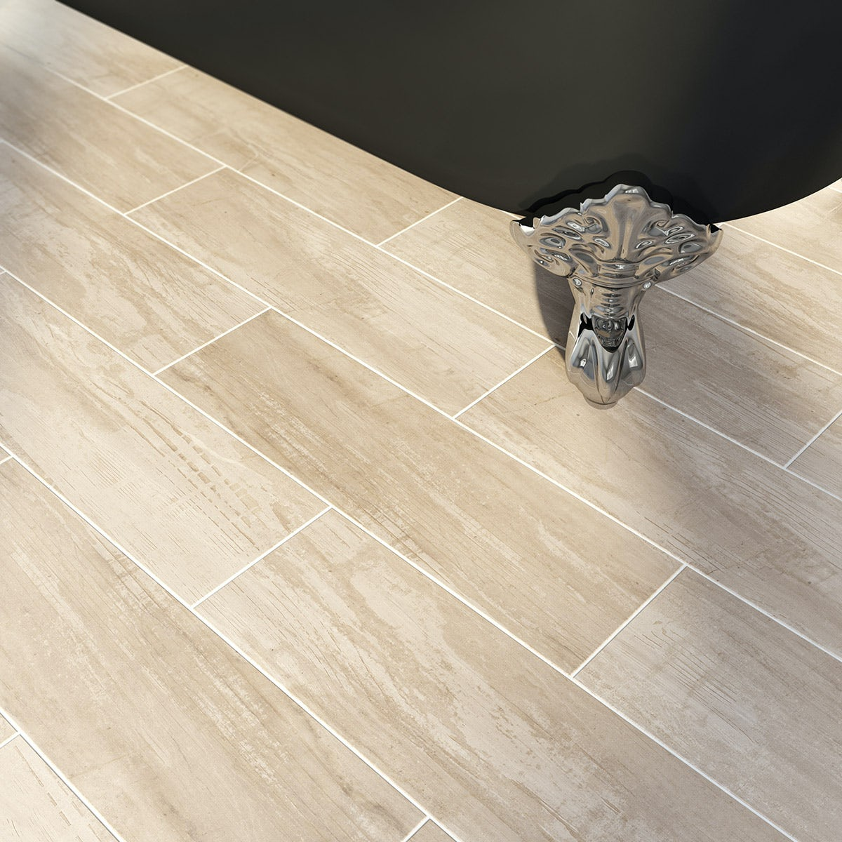 British Ceramic Tile Bark stone wood effect tile 148mm x 498mm