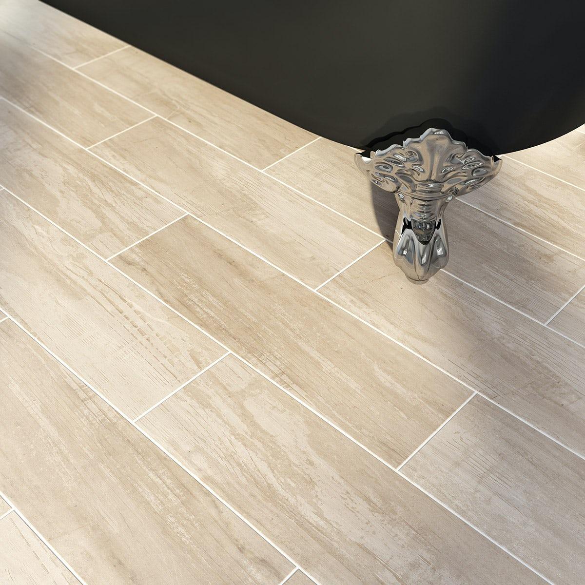 Bark stone wood effect tile 148mm x 498mm