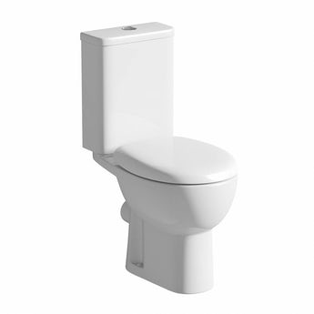 Elena close coupled toilet inc soft close seat and pan connector