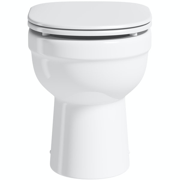Eden back to wall toilet with luxury soft close seat