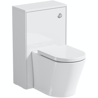 Mode Austin white back to wall unit with contemporary toilet and seat