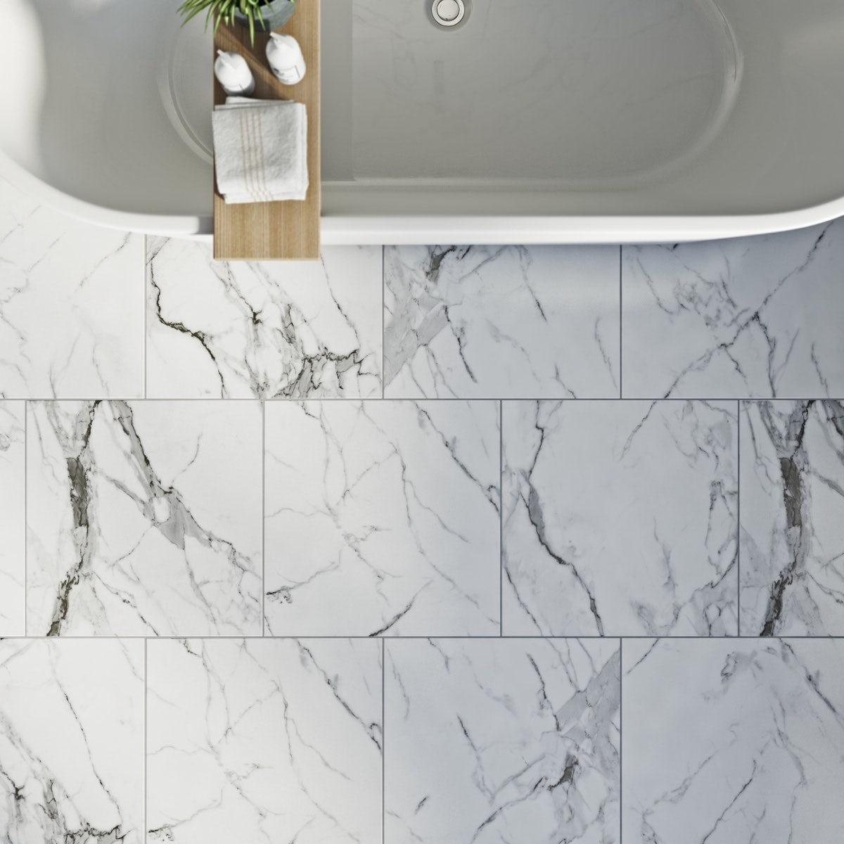 Arctic white matt tile 498mm x 498mm