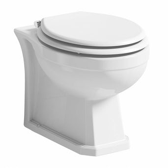 Regency Back to Wall Toilet inc Luxury White MDF Seat Special Offer