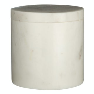 White marble storage jar