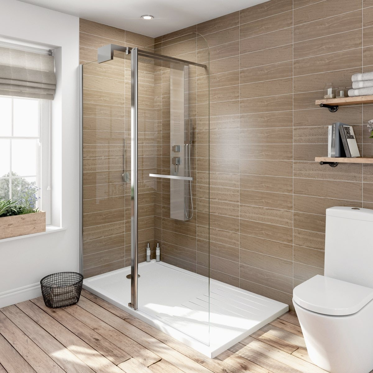 Elegant ... V6 Designer Shower System 1600 X 800 Inc Tray ...