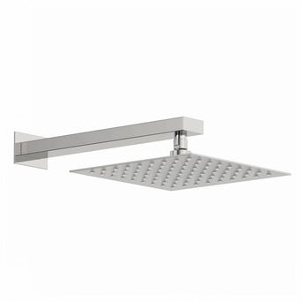 Incus 250mm Shower Head & Rectangular Wall Arm