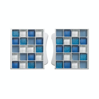 Aqualisa sassi electric shower tile inlays blue