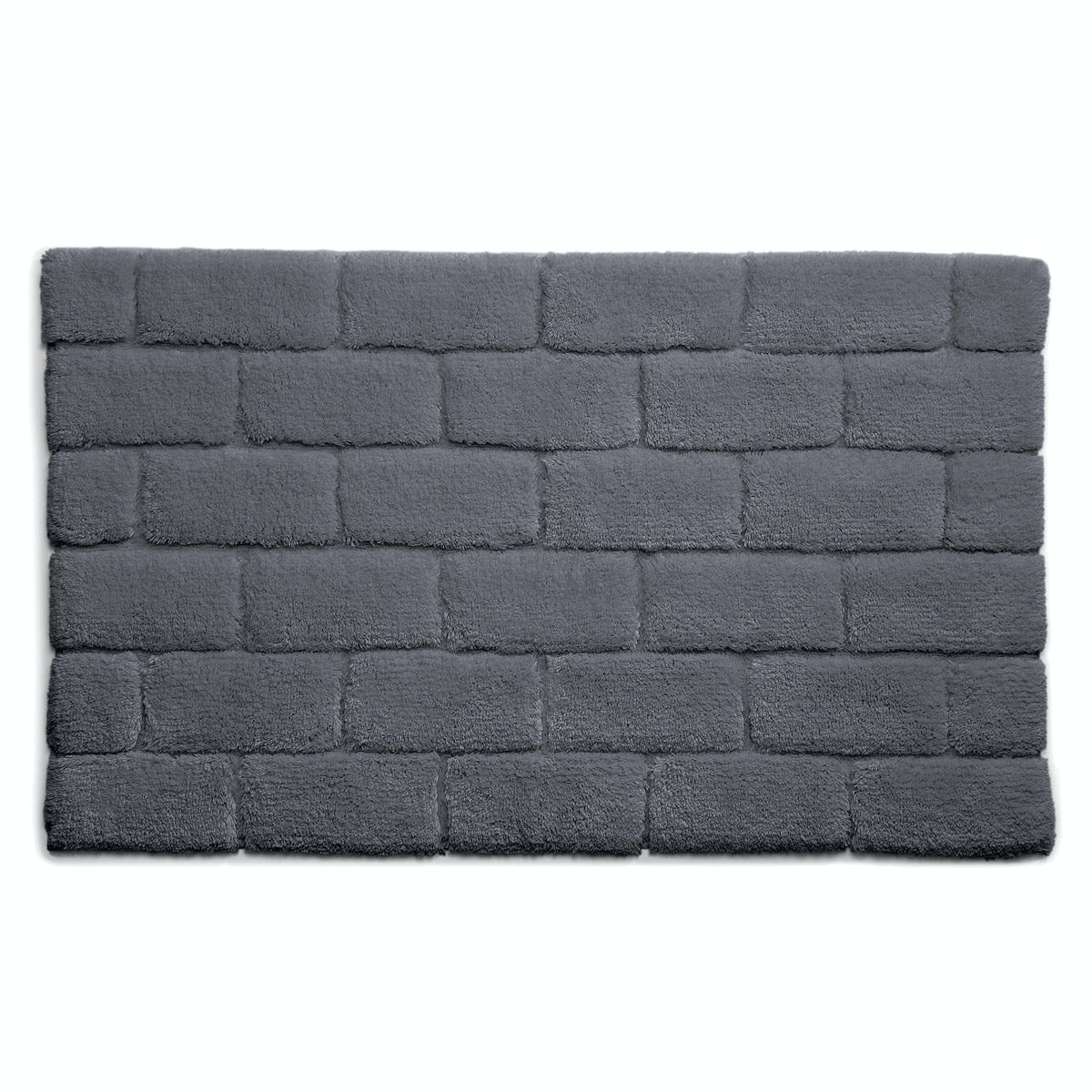 Hug Rug luxury bamboo brick graphite bathroom mat 50 x 80cm