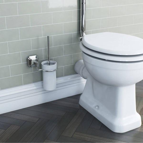 Camberley Toilet Brush & Ceramic Holder