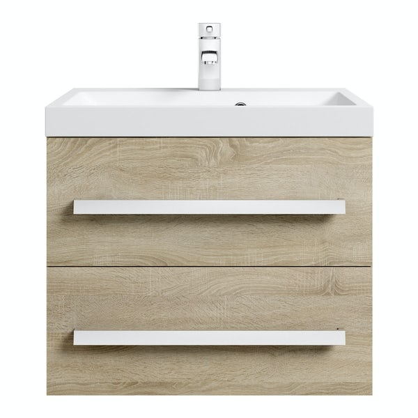 Wye oak 600 wall hung vanity unit with basin