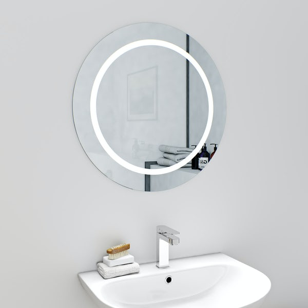 Mode Shine round LED mirror with demister