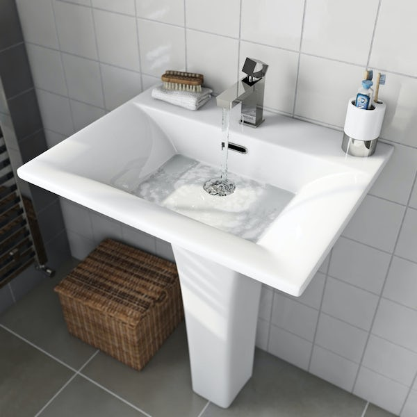 Mode Austin 1 tap hole full pedestal basin 600mm