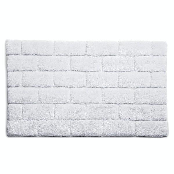 Hug Rug luxury bamboo brick white bathroom mat 50 x 80cm