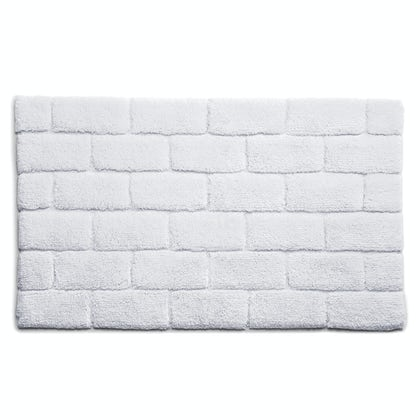 Hug Rug luxury bamboo brick white bathroom mat 50 x 80cm