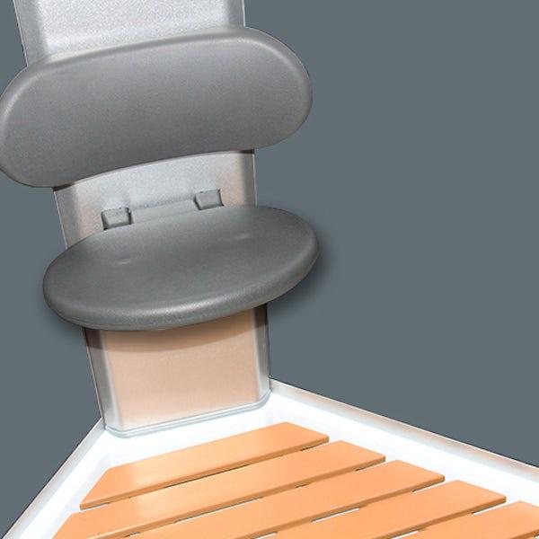 Insignia satin grey backed bow quadrant hydro-massage shower cabin 900 x 900