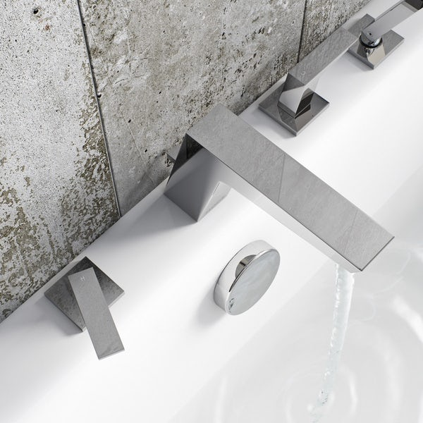 Mode Carter 4 hole bath shower mixer tap offer pack