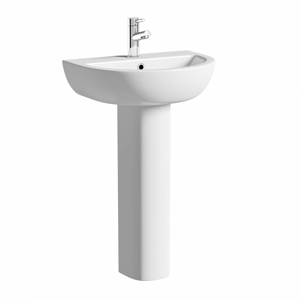 Orchard Elena 1 tap hole full pedestal basin with waste