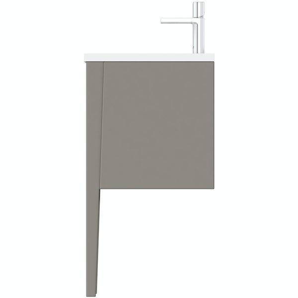 Mode Hale greystone matt double basin vanity unit 1200mm