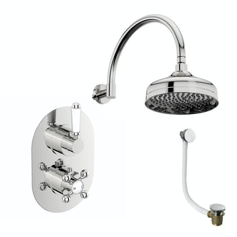 The Bath Co. Coniston thermostatic bath filler and shower set